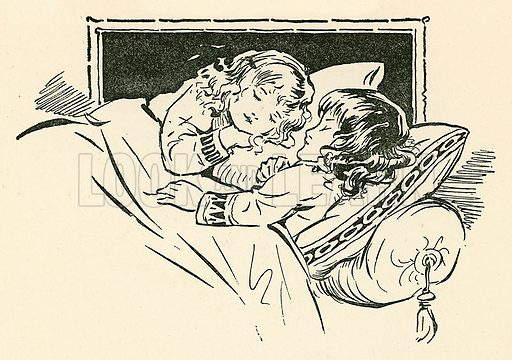 The Princes in the Tower. Illustration from Children's Stories from English History (Raphael Tuck, c 1910).