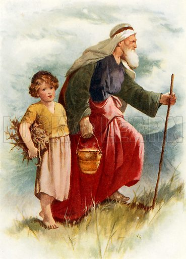 Abraham and Isaac. Illustration from Stories from the Bible (Raphael Tuck, c 1900).