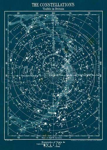 The Constellations. Illustration fom The New Popular Educator (Cassell, c 1890).