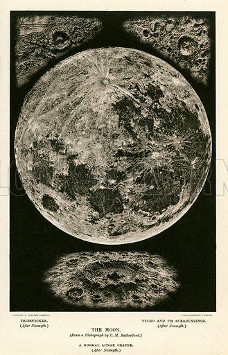 The moon. Illustration fom The New Popular Educator (Cassell, c 1890).
