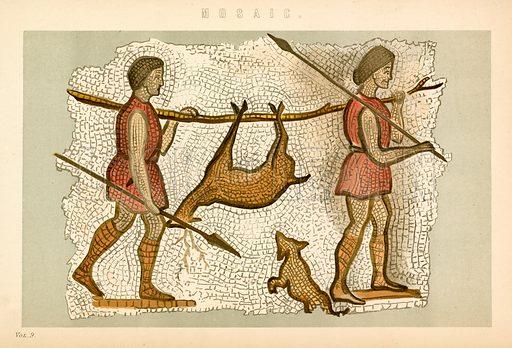 Mosaic. Illustration from The National Encyclopaedia (William Mackenzie, c 1870).