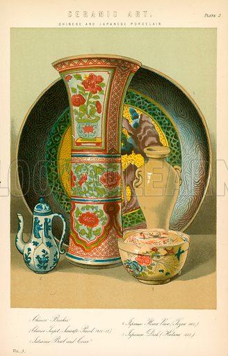 Ceramic art. Illustration from The National Encyclopaedia (William Mackenzie, c 1870).