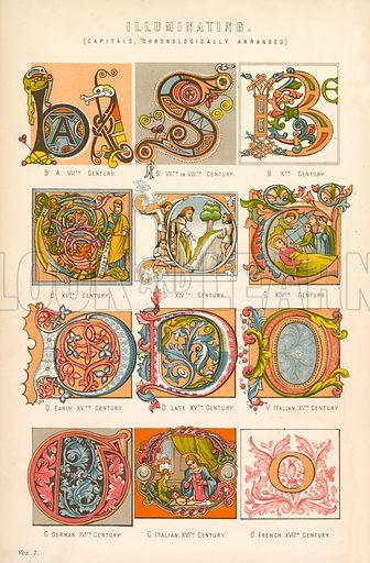Illuminating. Illustration from The National Encyclopaedia (William Mackenzie, c 1870).