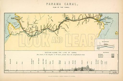 Panama Canal. Illustration from The National Encyclopaedia (William Mackenzie, c 1870).