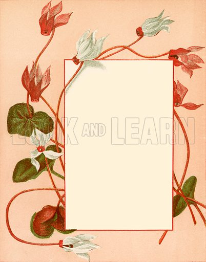 January. Floral design for The Birthday Book (George Routledge, c 1877).