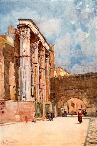 Temple of Mars Ultor. Illustration for Rome by M A R Tuker and Hope Malleson (A&C Black, c 1900).