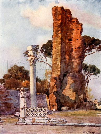 Flavian Basilica on the Palatine. Illustration for Rome by MAR Tuker and Hope Malleson (A&C Black, c 1900).