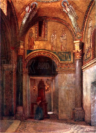 Chapel of San Zeno in S Prassede. Illustration for Rome by MAR Tuker and Hope Malleson (A&C Black, c 1900).