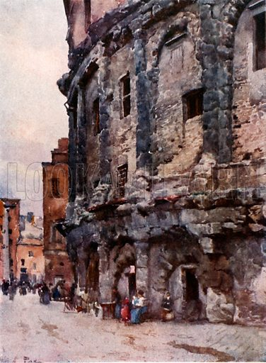 Theatre of Marcellus. Illustration for Rome by M A R Tuker and Hope Malleson (A&C Black, c 1900).