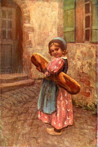 The family loaf. Illustration for The Wonder Book of Children (Ward Lock, c 1910).