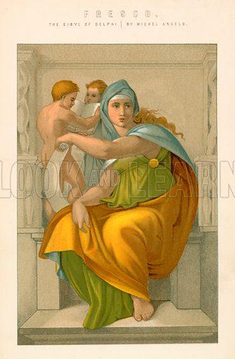 Fresco. Illustration from The National Encyclopaedia (William Mackenzie, c 1870).