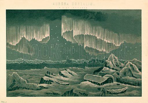 Aurora Borealis. Illustration from The National Encyclopaedia (William Mackenzie, c 1870).