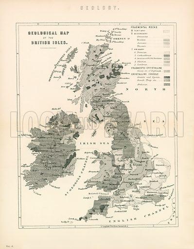 Geology. Illustration from The National Encyclopaedia (William Mackenzie, c 1870).