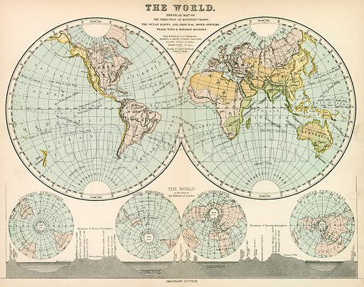 The World. Illustration from The National Encyclopaedia (William Mackenzie, c 1870).