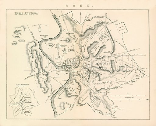 Rome. Illustration from The National Encyclopaedia (William Mackenzie, c 1870).