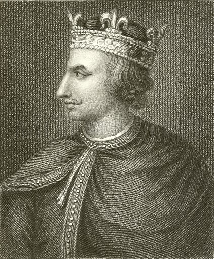 King Henry I. Illustration for The History of England by Hume and Smollett (George Bell, 1854).
