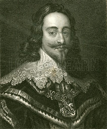 King Charles I. Illustration for The History of England by Hume and Smollett (George Bell, 1854).