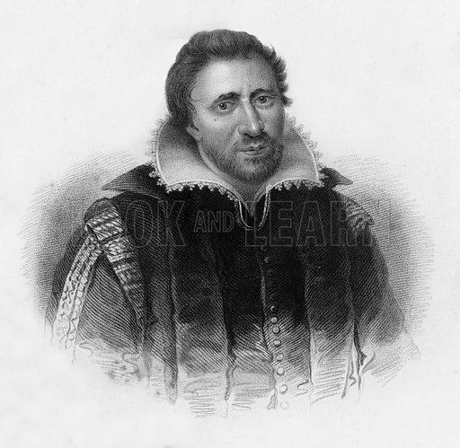 Ben Jonson. Illustration for Lives of Eminent and Illustrious Englishmen edited by G G Cunningham (Fullarton, c 1830).