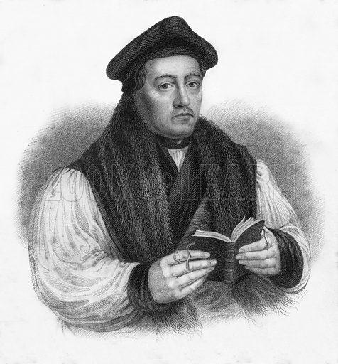 Thomas Cranmer, Archbishop of Canterbury. Illustration for Lives of Eminent and Illustrious Englishmen edited by GG Cunningham (Fullarton, c 1830).