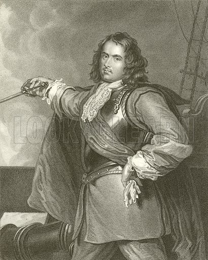 Admiral Blake. Illustration for Lives of Eminent and Illustrious Englishmen edited by G G Cunningham (Fullarton, c 1830).