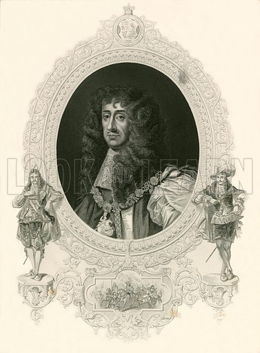 King Charles II. Illustration for The Pictorial History of Scotland by James Taylor (Virtue, 1859).