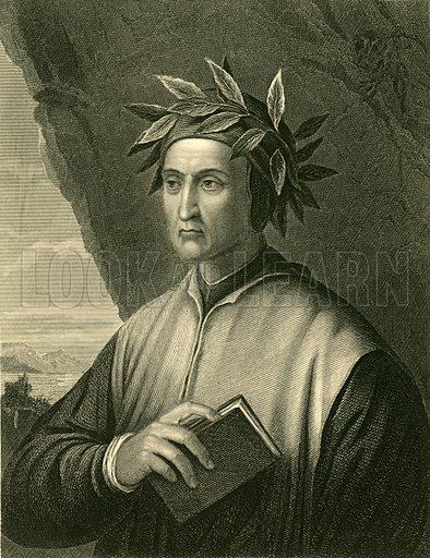Dante Alighieri. Illustration for The Imperial Dictionary of Universal Biography (William Mackenzie, c 1870).