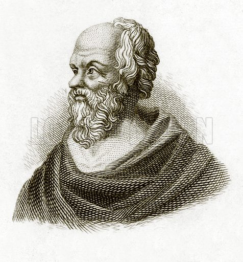 Socrates.  Illustration for The Universal Historical Dictionary by George Crabb (Baldwin, 1825).