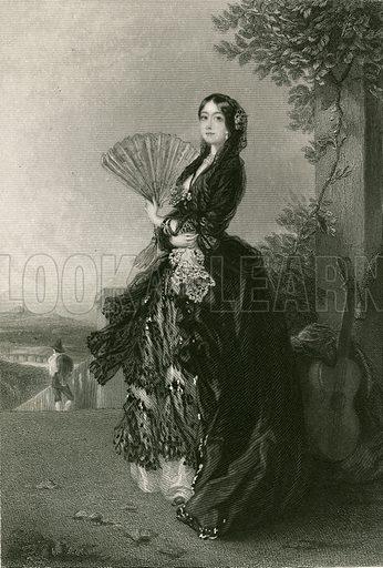 Annabella. Illustration for The Literary Gift Book (James Blackwood, c 1860).