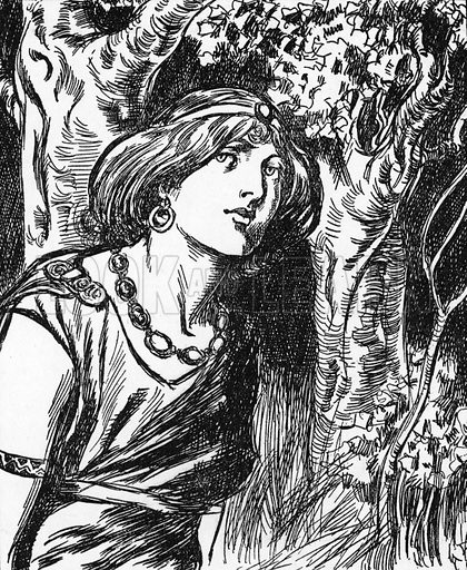 Queen Boadicea. Illustration for My Book of True Stories (Blackie, c 1910).