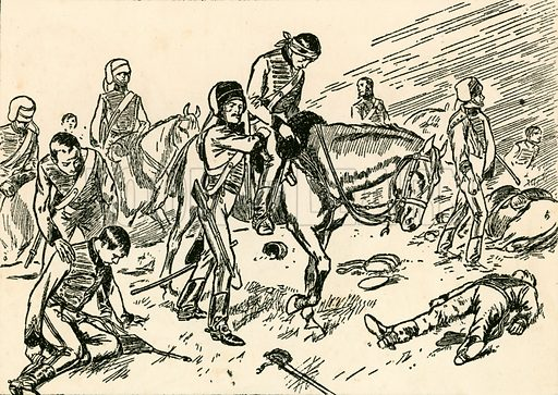 The charge of the Light Brigade. Illustration for My Book of True Stories (Blackie, c 1910).