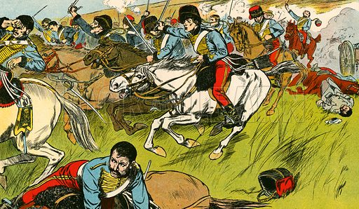The charge of the Light Brigade. The Illustration for My Book of True Stories (Blackie, c 1910).