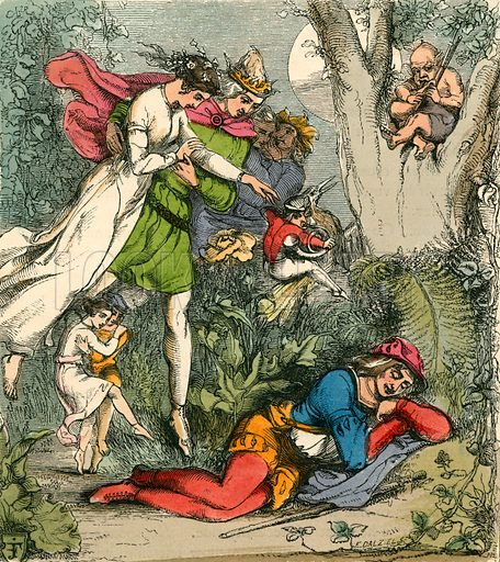Robin Goodfellow's Dream of Fairyland. Illustration for The Home Treasury of Old Story Books (Sampson Low, 1859).