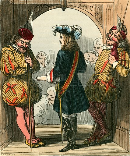 The arrival of the king's son. Illustration for The Home Treasury of Old Story Books (Sampson Low, 1859).