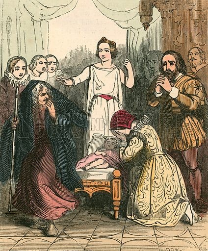 The appearance of the Good Fairy. Illustration for The Home Treasury of Old Story Books (Sampson Low, 1859).