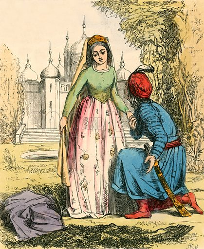 The Beast changed into a Prince. Illustration for The Home Treasury of Old Story Books (Sampson Low, 1859).