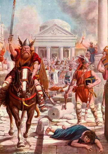 Fall of Rome, picture, image, illustration