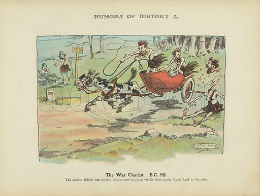 The War Chariot. BC 98. Illustration for Humors of History (Sully and Ford, c 1905).