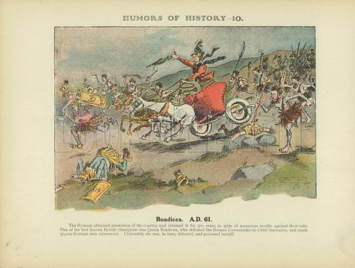 Boadicea. AD 61. Illustration for Humors of History (Sully and Ford, c 1905).