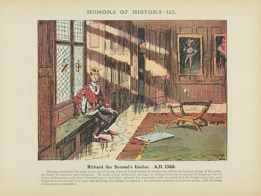Richard the Second's Uncles. AD 1388. Illustration for Humors of History (Sully and Ford, c 1905).