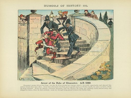 Arrest of the Duke of Gloucester. AD 1389. Illustration for Humors of History (Sully and Ford, c 1905).