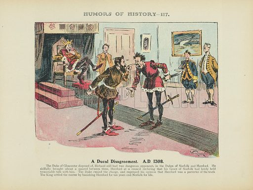 A Ducal Disagreement. AD 1398. Illustration for Humors of History (Sully and Ford, c 1905).