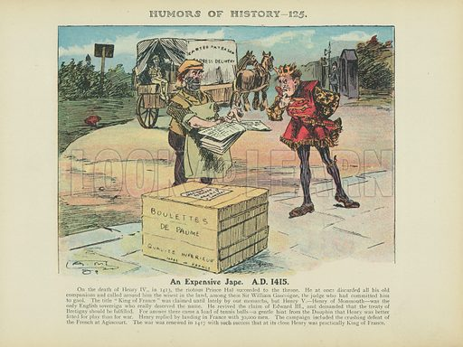 An Expensive Jape. AD 1415. Illustration for Humors of History (Sully and Ford, c 1905).