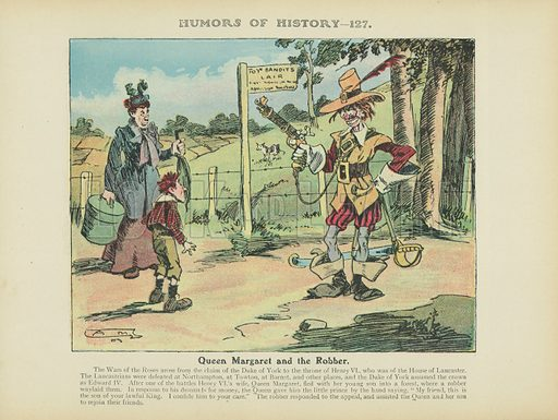 Queen Margaret and the Robber. Illustration for Humors of History (Sully and Ford, c 1905).