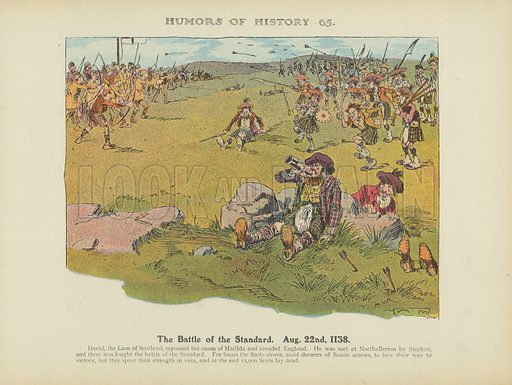 The Battle of the Standard. Aug. 22nd. 1138. Illustration for Humors of History (Sully and Ford, c 1905).