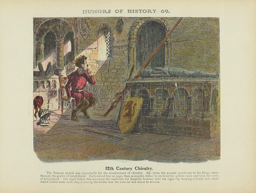 12th Century Chivalry. Illustration for Humors of History (Sully and Ford, c 1905).