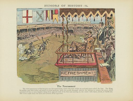 The Tournament. Illustration for Humors of History (Sully and Ford, c 1905).
