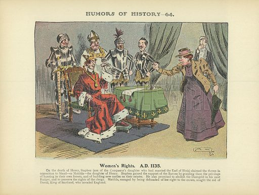 Women's Rights. AD 1135. Illustration for Humors of History (Sully and Ford, c 1905).