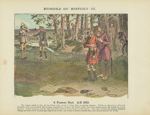 A Famous Duel. A.D. 1013. Illustration for Humors of History (Sully and Ford, c 1905).