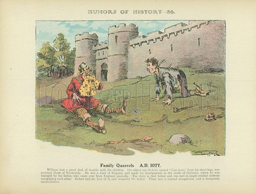 Family Quarrels. AD 1077. Illustration for Humors of History (Sully and Ford, c 1905).