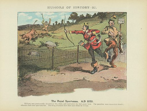 The Royal Sportsman. A.D. 1079. Illustration for Humors of History (Sully and Ford, c 1905).